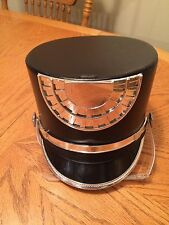 100 Black Silver Mirror Marching Band Hat RHS NICE QTY Available S, M, L, XL