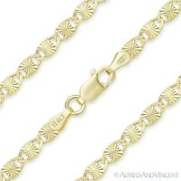 3.5mm Valentino Link Chain Necklace 925 Italy Sterling Silver w/ 14k Yellow Gold