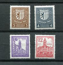 GERMANY SOVIET OCCUPATION ZONE SAXONY RARE WM VARIETIES MICHEL 150-155X PERF MNH
