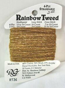 "Rainbow Gallery ""Rainbow Tweed"" cotton/wool/acrylic 4 ply 10 yards RT36 brown"