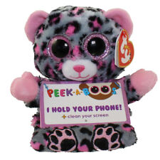 "TY Beanie Boos Peek A Boos 4"" TRIXI the Leopard Phone Holder with Cleaner MWMT's"