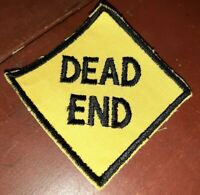 "Vintage EMBROIDERED PATCH ""Dead End"" Trucker"