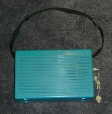 VINTAGE Blue Green Realistic RADIO SHACK Portable Radio Cassette PLAYER CTP-6
