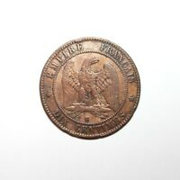 KM# 771.5 - 10 Centimes - Napoleon III - France 1854K (VF)