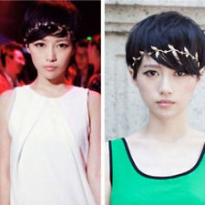 USA Gold Tone Boho Leaf Headband Leaves Womens Head Band Hair Chain Bohemian 1pc