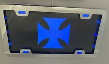 IRON CROSS LICENSE PLATE FRAME UNIVERSAL LED LIGHT UP PLATE(fit Mazda)