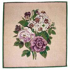 Napperon style gobelin motif Floral. Napperon de Table Tissage mécanique gobelin