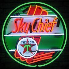 "Texaco Fire Chief Banner Neon Sign 24""x24"""
