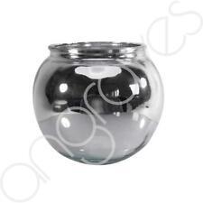 Splatter Silver Wide Funnel Flower Vase Jar Home Decoration Decor Ornament