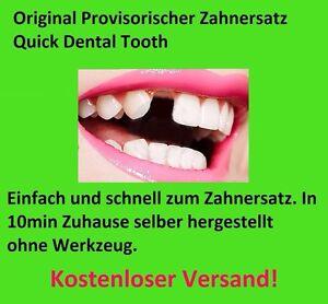 Provisorischer Zahnersatz Zahnprothese     auch für gebrochene Zahnfüllung™️