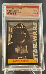 1977 Star Wars Wonder Bread Darth Vader #5 - PSA 9 MINT