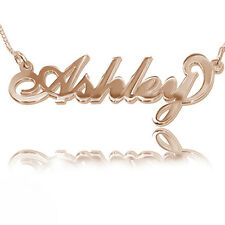 18k Rose Gold Plated on Sterling Silver Personalized Name Necklace (USA Seller)