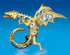 "SWAROVSKI CRYSTAL ELEMENTS ""Fire Dragon"" FIGURINE  24KT GOLD PLATED"