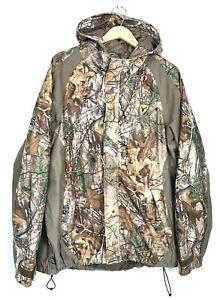 Scent Blocker Mens Size XL Camo Realtree Rain Hunting Jacket Camouflage Hooded