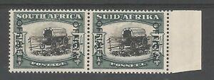 SOUTH AFRICA SG049a THE 1950-4 5/- BL&BLUE GRN BROKEN YOKEPIN VARIETY CAT £450