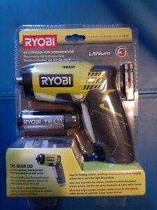 RYOBI 4 Volt Lithium-Ion Screwdriver Kit HP54L