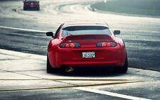 """TOYOTA SUPRA TWIN TURBO A2 CANVAS PRINT POSTER FRAMED 23.4""""x15.4"""""""