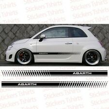 Fiat Abarth 500 2011 and up Racing Stripe Side Car Decal Vinyl Sticker Stripes