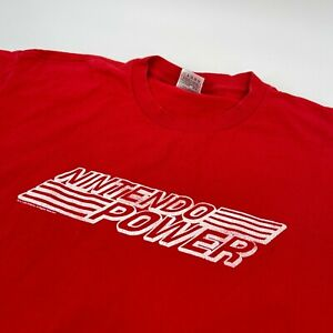 Vintage 2004 Nintendo Power Red Graphic T Shirt FOTL Heavy Size XL Distressed
