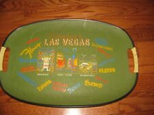 Vintage Fabulous Las Vegas Casino Hotels Serving Tray bar Tavern Pub Barware