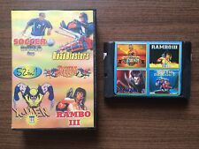 """6 in 1: X-Men II, Double Dragon II,Rambo III"" Sega Mega Drive/Genesis Game USED"