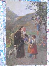 Artige Kinder Hund Landschaft Gemälde Kunstwerk Postkarte Ansichtskarte 3026