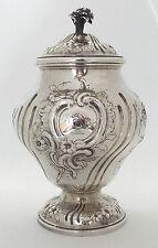 Tea Caddy rococó invertida Pera georgiano plata esterlina sólida Herne & Butty 1760