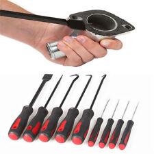 9x Scraper / Hook Pick Set Car Removal Tool O Rings Seals Bushes Rubber Handle