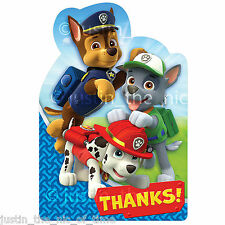 PAW PATROL Boys Birthday Party Thank You Cards & Envelopes x8