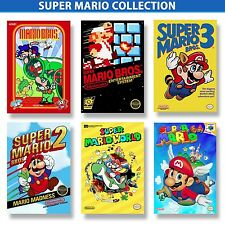 Super Mario Bros Poster Collection (6) 9.5x13each W/FoamBoard Backing