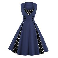 Womens Vintage 1950's 60's Retro Evening Party Rockabilly Swing Dress Prom Ball