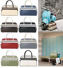 Large Retro Vintage Weekend Bag  - 21.5L Holdall Duffle Hand Luggage Overnight
