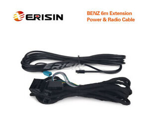 Erisin LMBENZ-6M Extension Radio & Power Cable for Benz E3080E ES3069C