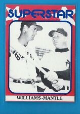 MICKEY MANTLE--TED WILLIAMS 1982 SUPERSTAR 2nd Series #89 Tough! HOF