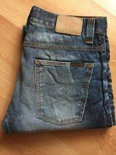 W32 L34 32/34 NEW RARE Nudie jeans AVERAGE JOE USED BLACK COATED denim SLIM BLUE
