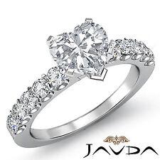 Heart Shape Prong Set Diamond Engagement Ring GIA F VS2 Clarity Platinum 1.75 ct