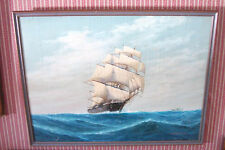 "Luca Papaluca, LISTED ARTIST, gorgeous maritime painting. ""Flying Cloud."""