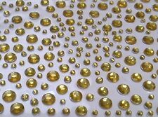 CraftbuddyUS 325 Gold Self Adhesive Diamante Stick onRhinestone Gems Cards Bling