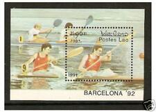 Laos - 1991 Olympic Games (Rowing) sheet - MNH - SG MS1236