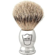 Parker 100% SILVERTIP BADGER Chrome Handle Handmade Shaving Brush Dense Knot