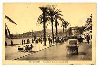 CPA 06 Alpes-Maritimes Cannes promenade de la Croisette animé voitures