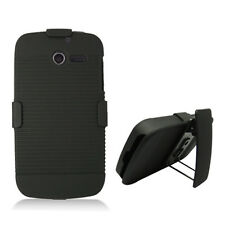For Huawei Ascend Y H866C COMBO Belt Clip Holster Case Cover Kick Stand Black