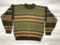 VTG MEXX COOGI Style Men's 100% Cotton Multicolor Knit Pullover Sweater Sz M