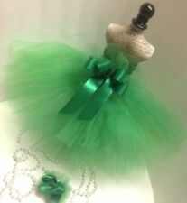 NEW DOG TUTU GREEN PET DOG SKIRT W/ Dog HAIRBOW Lavenders Closet XS S SM CLOTHES