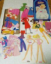 2 sets Barbie Paper Doll Crystal Lot Vintage Playset Papercraft 1983 & 1984