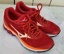 Mizuno Wave Rider 20 Women's Athletic Running Shoes Size 7.5 Red, Orange, White