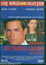 Omicidio di primo grado (1995) DVD NUOVO Rob Lowe, Leslie Hope, Jeff Woolnough