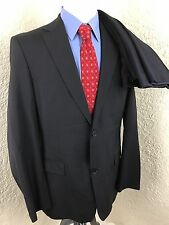 Hugo Boss Midnight Navy 2 Button Suit Mens 40 Long 34 X 34.5 Dual Vented
