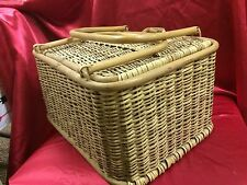 Vintage Filipino Fish Basket Picnic Basket Handmade Phillipines