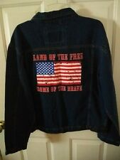 Canyon Guide Outfitters Large Denim Jacket American Flag